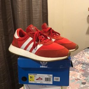 Adidas Iniki Runner boost red white gold gum-sole